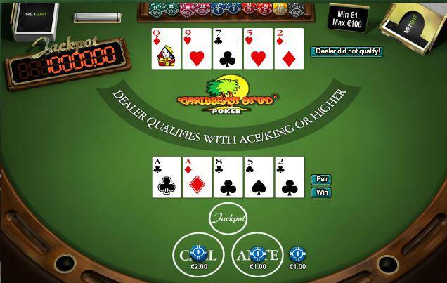 caribbean-stud-poker Einsatz