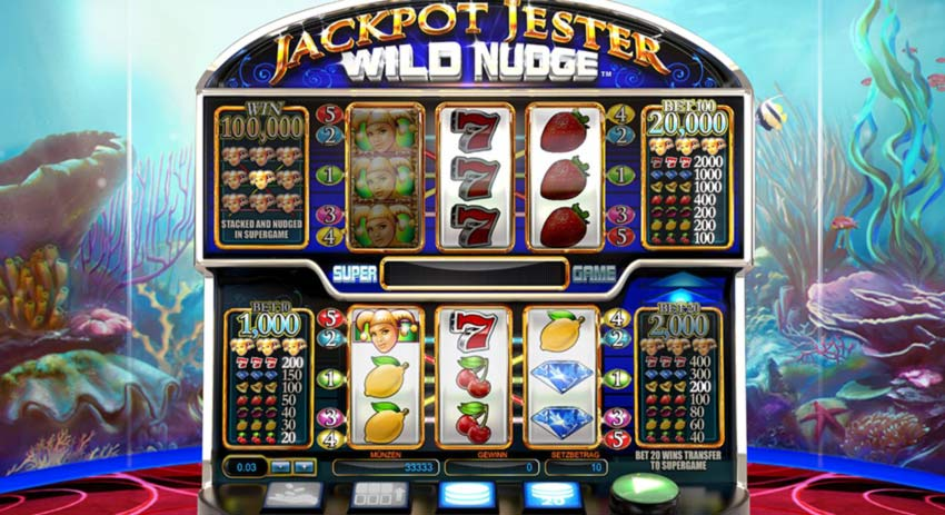 Jackpot Jester Wild Nudge Gameplay