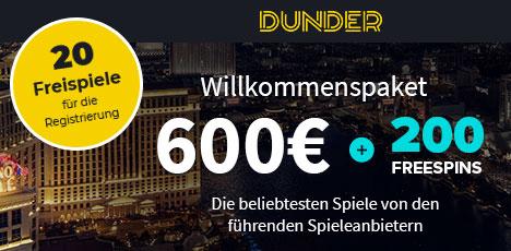 Echtgeld Casino Dunder
