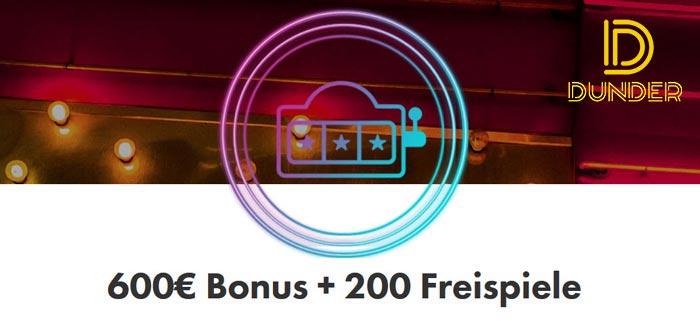 Online Casino Dunder Bonus