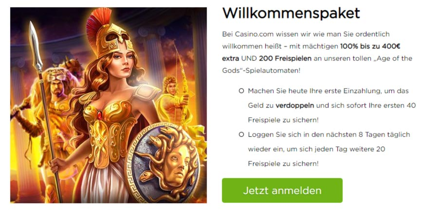 Casino.com Willkommenspaket