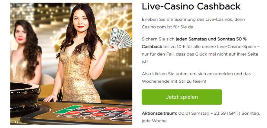 Casino.com Cashback