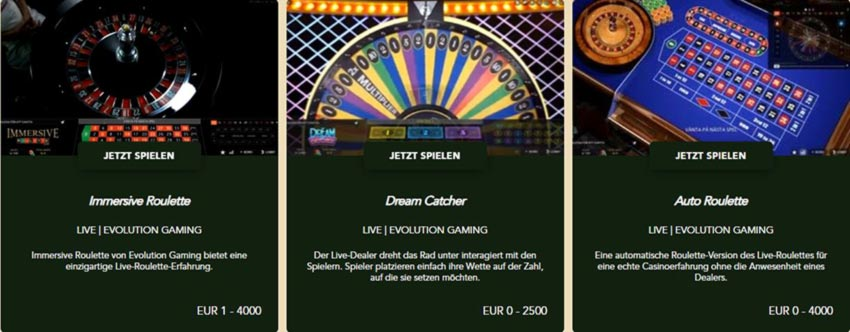 Codeta Casino Live Spiele
