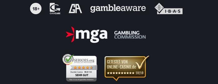 Dunder Casino Sicherheit