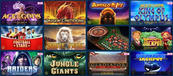 Spieleangebot Europa Casino