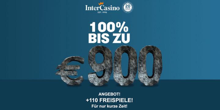 InterCasino 900€ Bonus