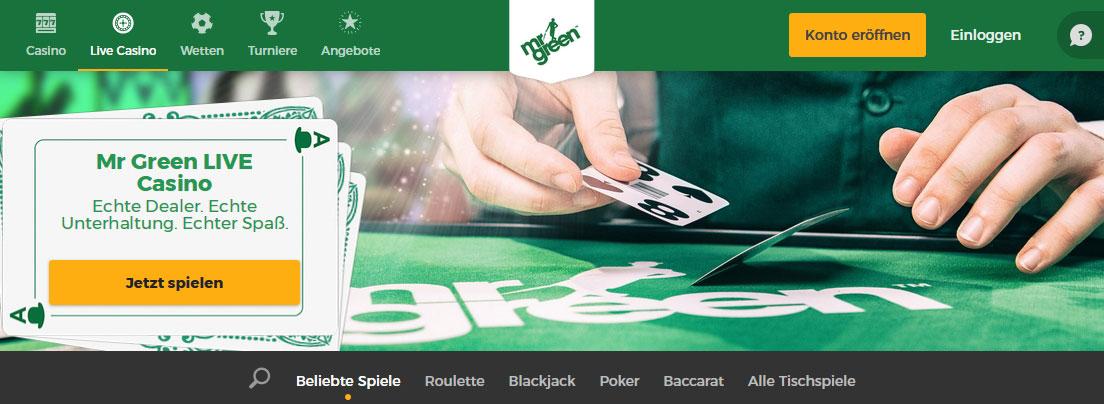 Mr Green Casino Spieleauswahl
