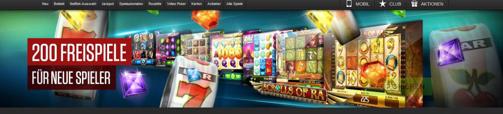 NetBet Casino Spielauswahl