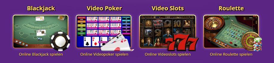Zodiac Casino Spielauswahl