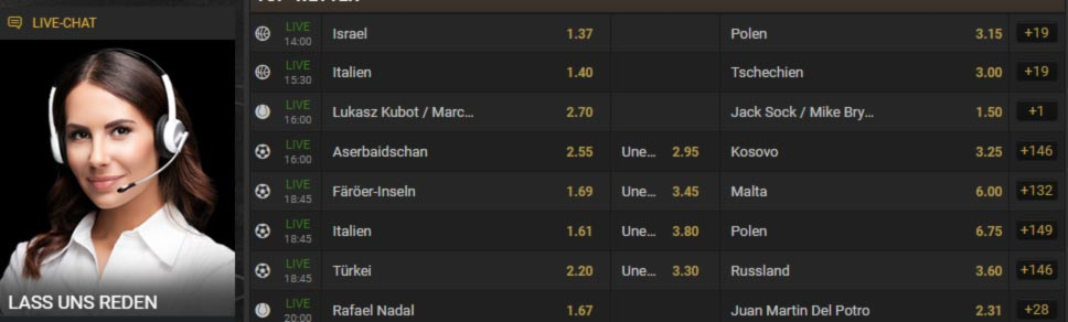 18Bet live-chat