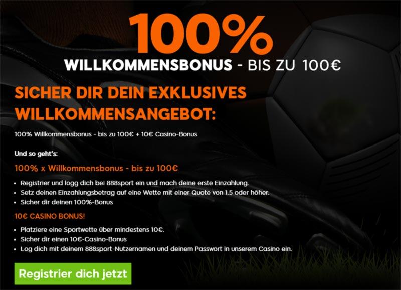 888Sport Bonus anmelden